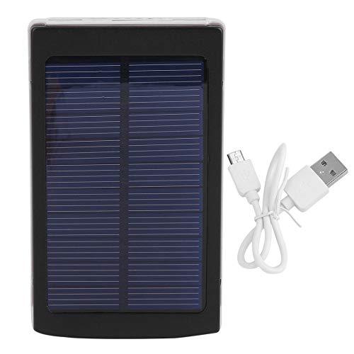 CHOULI 30000MAH Solarbetriebenes Batterieladegerät mit großer Kapazität und externer Energiebank schwarz