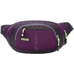Fami Mode Courir Bum Voyage sac Handy Randonnée Sport Fanny pack Ceinture Pouch (Violet)