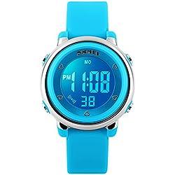 Digital Relojes 5ATM con fecha/alarma/Cronógrafo/7LED