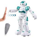 Virhuck R2 Robot Telecomandato per Bambini, Programmazione Intelligente e Gesture Sensing, Danza Cantante Camminare RC Robot Giocattolo, 500 mAh, Carica USB - Blu