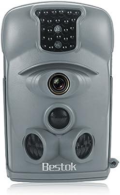 Bestok 8210A 940nm Infrarroja Invisible 120° Gran Angular la Vigilancia Digital Impermeable Rastro Caza Cámara Fauna Salvaje al Aire Libre Ensayo Cámara sin la tarjeta SD(Gris)