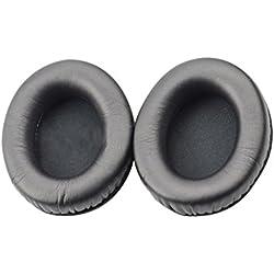 Meijunter Oreillettes de Remplacement pour Philips Fidelio L1//L2/L2BO Headphones,Mousse à Mémoire de Forme Earpads Coussins Doux Cuir 1 Paires,Noir