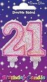 Simon Elvin Geburtstagskuchenkerze, 21. Geburtstag rose