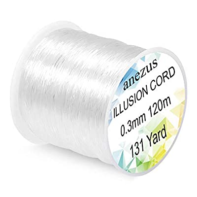 Anezus Fishing Line Nylon String Cord Clear Fluorocarbon Strong Monofilament Fishing Wire by Anezus