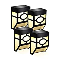 Solar Fence Lights,2 Modes Solar LED Outdoor Wall Lights for Deck, Fence, Patio, Front Door, Stair, Landscape, Yard and Driveway Path,Warm White/Color Changing,Pack of 4