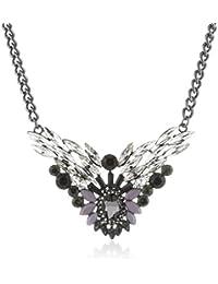Sweet Deluxe Damen-Halskette Metall 65 Glaskristalle schwarz/crystal 45 cm 3168