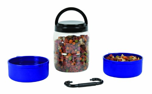 Artikelbild: Trixie 2491 Reise-Set, Kunststoff 2 Liter/0,75 Liter,  blauen und transparenten Deckeln