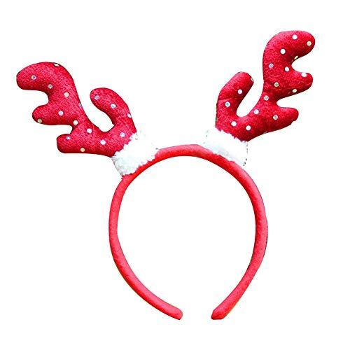 Menior Weihnachten Stirnband, Nette Weihnachtsfeier Haarschleife Frauen Mädchen Schöne Haarband Party Kopfschmuck Zubehör