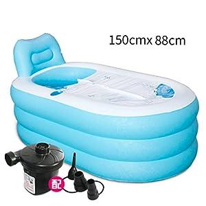 WEBO Home- Gonfiati Vasca più Spessi per Adulti Vasca Fold vaschetta per Il Bagno di plastica da Bagno Barrel Bagni Botti Botti da Bagno (Dimensioni : L2)