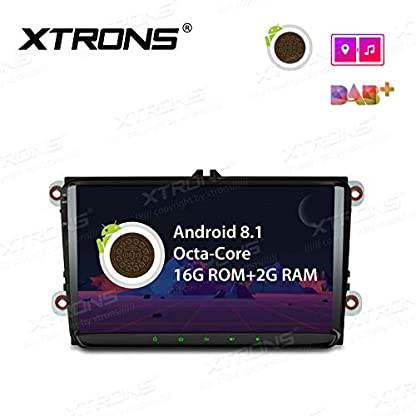 XTRONS-9-Auto-Touchscreen-Autoradio-Auto-Multimedia-Player-mit-Android-81-Octa-Core-unterstzt-4K-Video-WiFi-4G-Bluetooth-2GB-RAM-16GB-ROM-DAB-OBD2-TPMS-FR-Volkswagen-VW