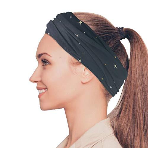 Rtosd Blue Galaxy Secrety Elastische Stirnbänder Head Wrap Schal Sport Schweißband Gesichtsmaske Magischer Schal Haarschmuck Bänder Krawatten Für Frauen Mädchen Laufen Fitness Yoga