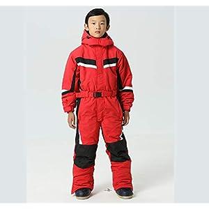 DUBAOBAO Kinderjacke, Einteiliger Skianzug Für Jungen Und Mädchen, Dicker Warmer Anzug, Für Kinder Geeignete Größe