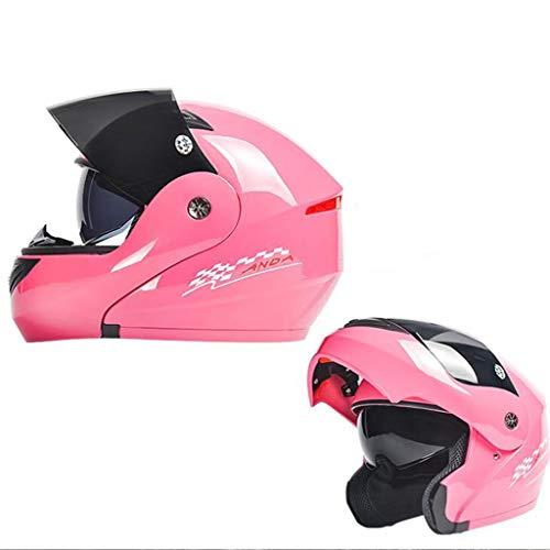 Elektrische Motorrad vorgestellt Helm Männer und Frauen Vier Jahreszeiten Universal Winter Anti-Fog-Helm Full Cover Full Face Helm (Color : C) (Helm Halbmaske Motorrad)