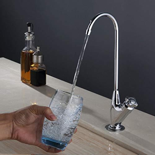 BMY Spültischarmaturen Moderner minimalistischer Reiner Kupfer-Einhand-Einloch-Loch Kaltwasser-Wasserhahn-Gemüse-Becken Küchenspülen-Wasserhahn kann drehen