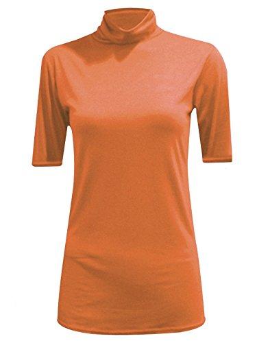 Comfiestyle - Haut de pyjama - Haut - Col polo - Femme rouille
