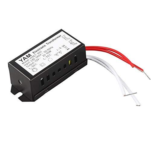 conception populaire meilleurs prix variété de dessins et de couleurs AC 220V to 12V 20-50W Halogen Lamp Electronic Transformer LED Driver Power  Supply for Low-voltage Halogen Lamp - Black