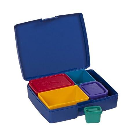Laptop Lunches Bento-ware L600-Primary Boîte à repas avec compartiments antifuites sans BPA Couleurs primaires