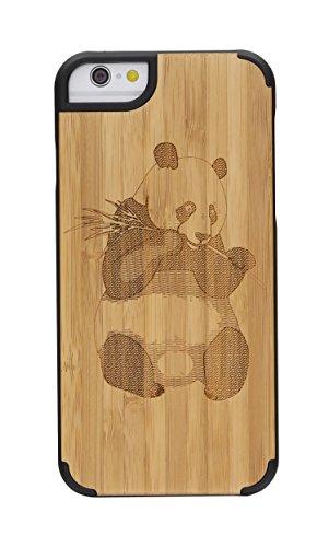 """SunSmart Housses classique en bois iPhone 6 Plus Housse en bois naturel de protection pour iPhone Plus 5.5""""-23 20"""