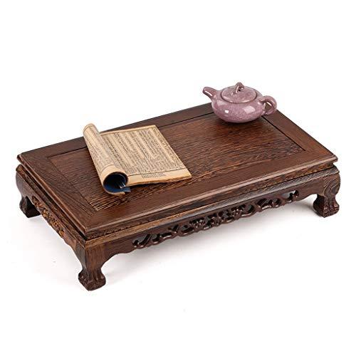 Tisch und Stuhl Chinesische Mahagoni-Tatami-Tischbodentisch-niedrige Tabelle des rechteckigen Teetischs des Couchtischbuchtfensters (Color : Brown, Size : 50.5 * 30.5 * 13CM) - Tisch Mahagoni-holz Gartenmöbel