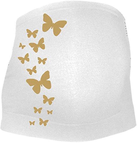 Schwangerschaftbauchband mit Schmetterlinge und Stützfunktion