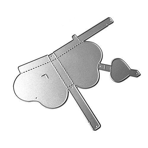 Wuayi Stanzformen, Uniformen-Prägeschablone für DIY Scrapbooking Album Papier Karte Dekoration Basteln, Karbonstahl, D:123 * 89mm, As Shown Uniform Chino