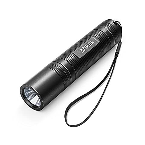 Anker LC40 LED Flashlight, Pocket-Sized LED Torch, Super Bright 400 Lumens CREE LED, IP65 Water Resistant, 3 Modes High/Low/Strobe for Indoors and Outdoors (Camping, Hiking, Cycling and Emergency Use)