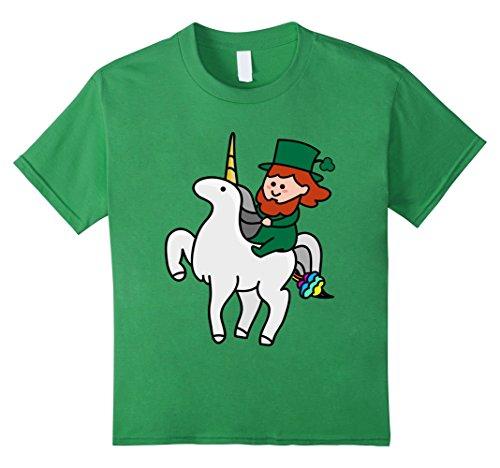 Funny St Patrick's Day Shirt - Leprechaun Riding a Unicorn Kinder, Größe 116 (T Shirts Patricks St)
