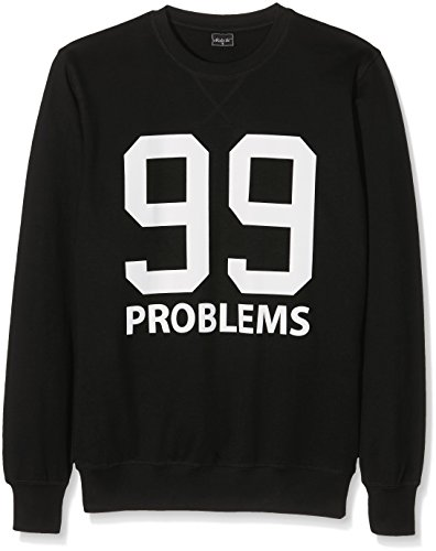Mister Tee Herren 99 Problems Crewneck Sweatshirts Black