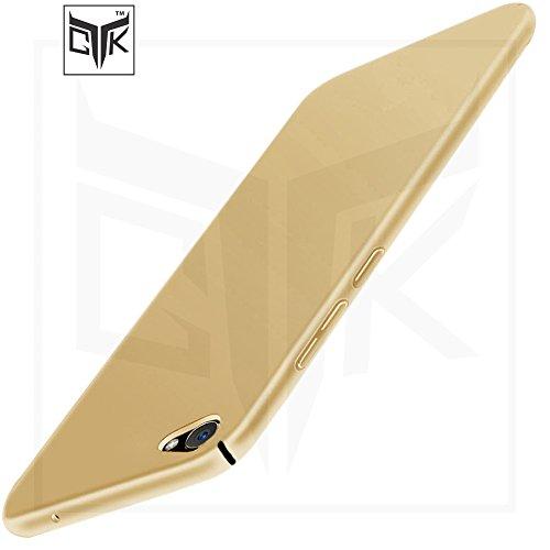 Vivo Y55s / Y55L Back Cover - TheGiftKart Ultra Slim Matte Velvet Feel Hard Back Cover - Golden