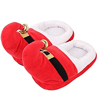 THEE Zapatillas de Casa Disfraz Zapatillas Papá Noel de Navidad