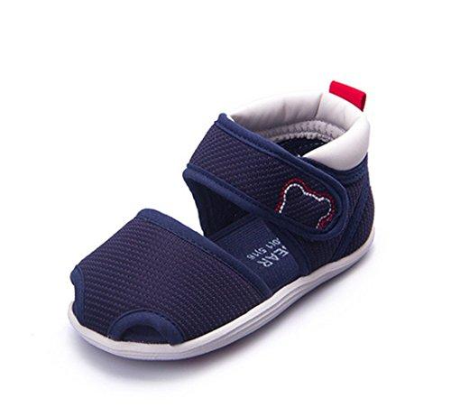 Ohmais Enfants Chaussure bebe garcon premier pas Chaussure premier pas bébé sandale en cuir souple deep bleu