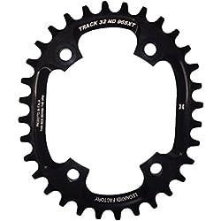 Leonardi Factory Oval Track BCD 96 XT Plato de Bicicleta, Hombre, Negro, 32