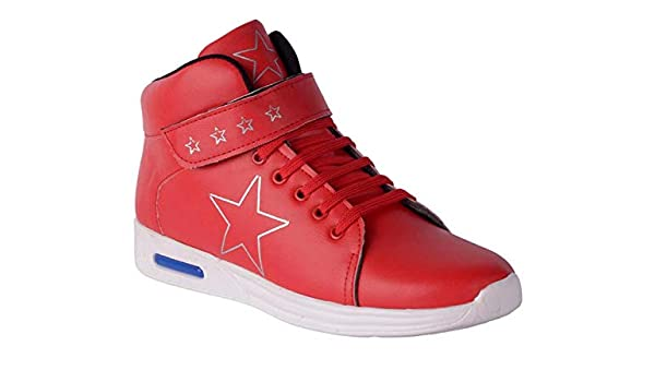 13bd1492f08 ShoeAdda Men Red Casual Ankle Sneakers: Amazon.in: Shoes & Handbags
