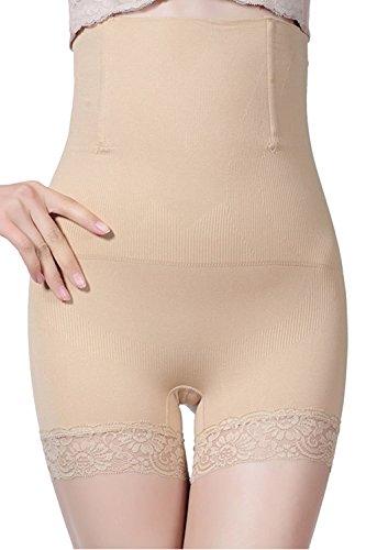 AMAGGIGO Shapewear - Braga Faja Reductora y Moldeadora Invisible para Mujer (M/L 1= S (Fits Waist 24-27 Inch), Beige-B)