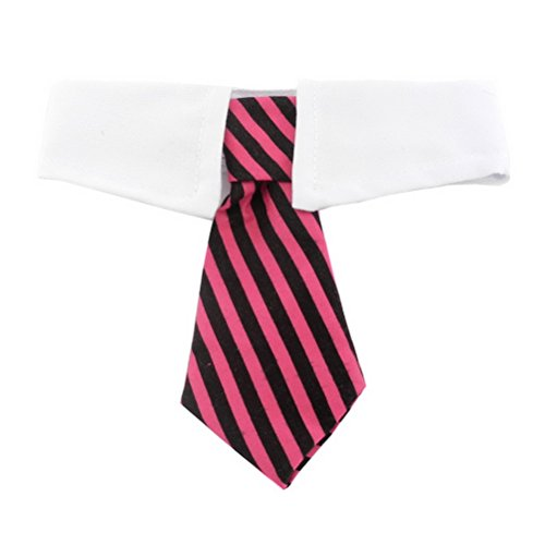 ZUNEA Puppy Fliege für Hunde Halsband für Kleine Hunde Pet Gentleman Sonnenbrille Verstellbar Formale Gestreift Krawatte Halsbänder Classics Handsome Pet Kostüm für Hochzeit Parteien