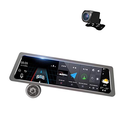 10 Pulgadas De Pantalla Táctil Completa para Android Reproductor De Video Retrovisor Retrovisor, 1080P Lente Doble, Cámara De Carro, Grabadora De Video En Bucle DVR, GPS, Bluetooth, WiFi, Red 4G