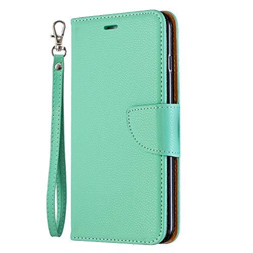 NEXCURIO iPhone 6S Plus/6 Plus Hülle Leder, Handyhülle Tasche Leder Flip Case Brieftasche Etui mit Kartenfach Stoßfest Schutzhülle für Apple iPhone 6SPlus/6Plus - NEBFE130012 Grün