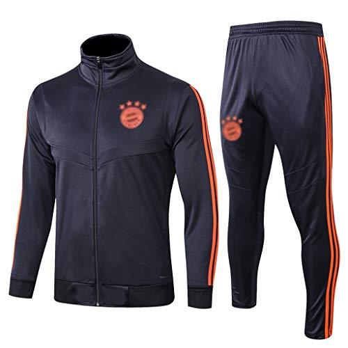 No-brand European Football Club Lange Collar Sportfußballtraining Uniform Royal Blue Sweatshirt (Verschiedene Größenoptionen) -CMKA0572 (Color : Royal Blue, Size : M)