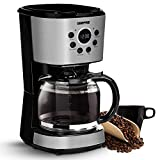 Geepas 1.5L Filter Coffee Machine | 900W Coffee Maker for Instant Coffee, Espresso