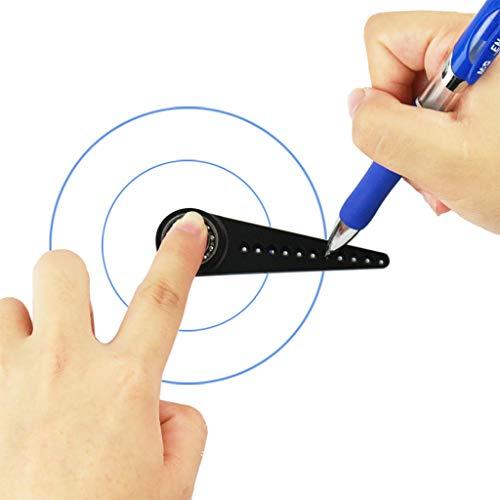 Kreatives Multifunktions-Zeichenwerkzeug, Webla, Das Vielseitigste Und Tragbarste Designtool In Kombination Mit Minikompass Und Förderer T, Black Metal (Schwarz) -