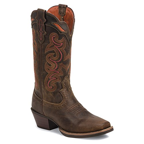 Justin Boots SVL7319 Large Cuir Santiags Light Coffee Waxy