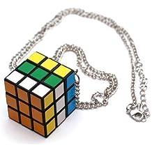 Cubo Rubiks cubo mágico cadena de cuello - cadena de aprox. 70cm de largo - colgante cubo mágico de Rubiks