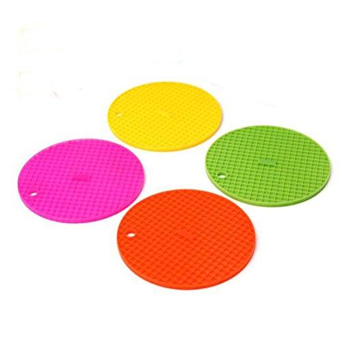 Matte Trocknung Küche (arlai 4Stück Küche Neue Strapazierfähige Silikon Pad Küche Werkzeug Untersetzer Wärmedämmung Schüssel Topf Matte & # xff08; Farbe & # xff1a; zufällige & # xff09;)