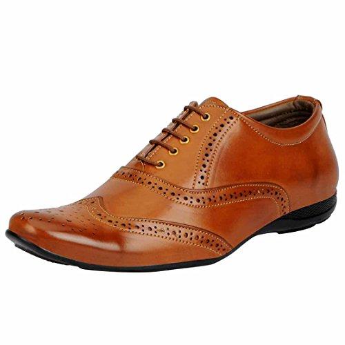 Fausto 3233-44 Tan Men's Formal Brogue Shoes