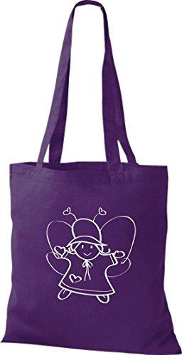 Crocodile leur d'elfes trolle nain, sac shopper sac à bandoulière plusieurs couleurs Violet - Violet