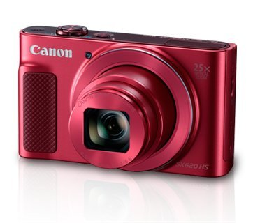 Canon PowerShot SX620HS 20.2MP Digital Camera with 25x Optical Zoom (Red) + 8GB Memory Card + Camera Case