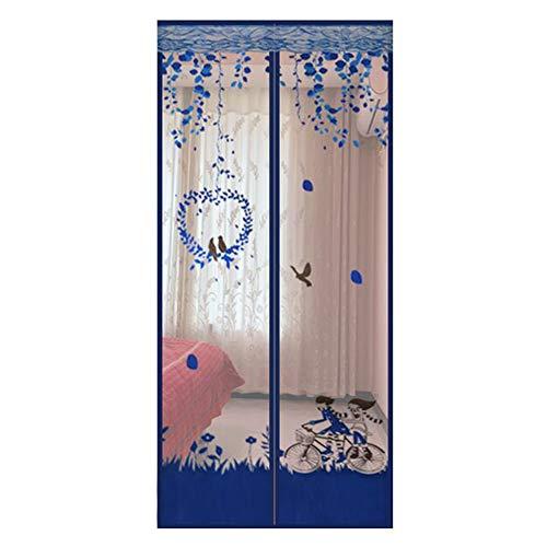 HLL Magnetischer Mesh-Bildschirm Tür Moskitonetz Vorhang Vor Insekten schützen mit Fadenverklebung und Reißzwecke,90x200cm(35x79in)