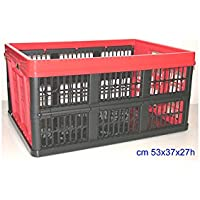 Tontarelli Voilà Cesto Plegable, Plástico, Negro/Rojo, 45 litros, surtido: colores aleatorios