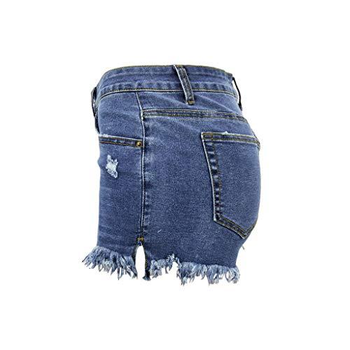 SIOPEW Mid-Rise-Shorts FüR Damen Mit Ausgefranstem, Geripptem Denim-Jeanshorts -