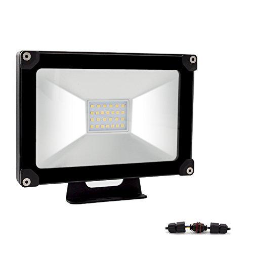 ALOTOA 20W LED Fluter Flutlicht,LED Flutlicht ersetzt 60W Halogenlampe, IP65 wasserdicht, 2000lm 120° LED Außenleuchten, LED Flutlichtstrahler Strahler Scheinwerfer (Kaltweiß 6000K)